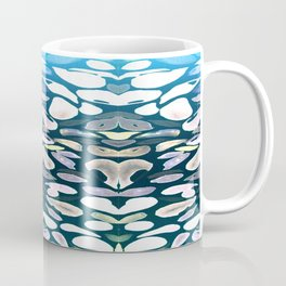 Under The Sea Summer Swimming Lessons, Dark Blue Coffee Mug