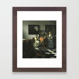 Stolen Art - The Concert by Johannes Vermeer Framed Art Print