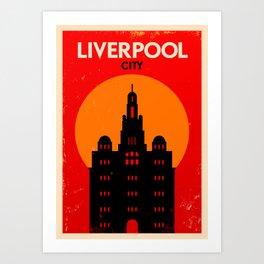 Vintage Liverpool Poster Art Print