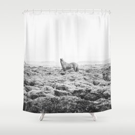 Horse Print with a Modern Style Shower Curtain