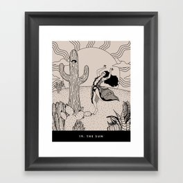 19. THE SUN Framed Art Print