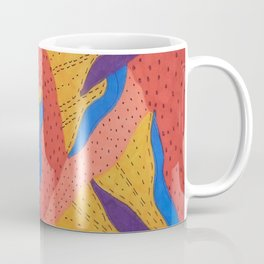Orange Desert Flowering Abstract Coffee Mug