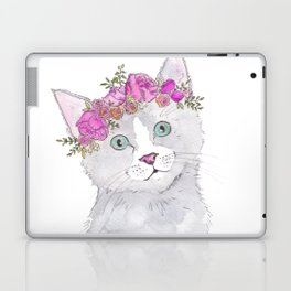 Kitten Flower Crown Watercolor Laptop & iPad Skin