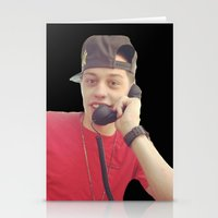 snl Stationery Cards featuring Phone by F*** Me Pete Davidson