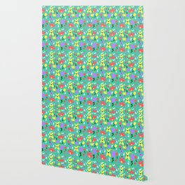 Bright Little Green Spring Handmade Pattern Wallpaper