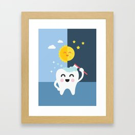 Brush your Teeth Morning and Night Framed Art Print