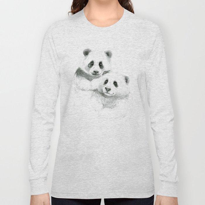 Giant Panda sketch SK064 Long Sleeve T-shirt