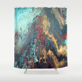 Mermaid Muse and Misty Memories Shower Curtain
