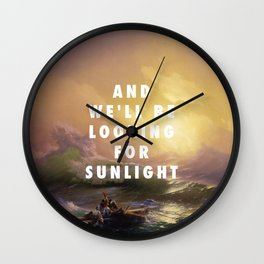 Ivan Aivazovsky, The Ninth Wave (1850) / Halsey, Roman Holiday (2015) Wall Clock