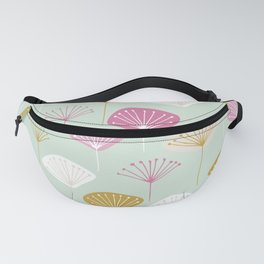 dandelion mint green pink with pattern print Fanny Pack
