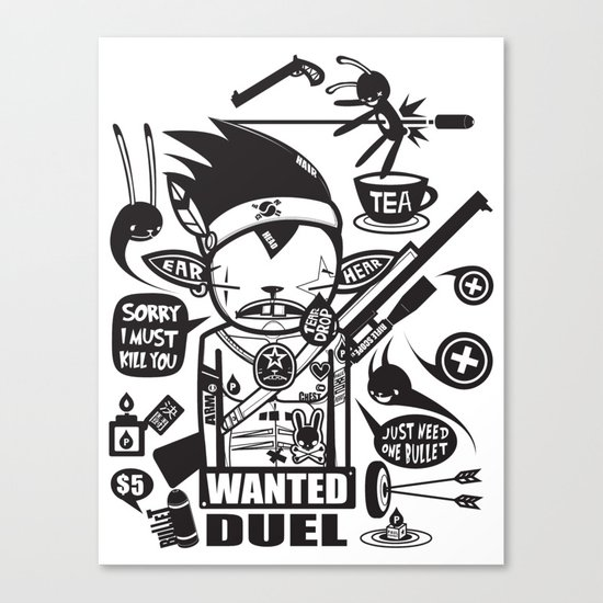 SORRY I MUST KILL YOU ! - DUEL Canvas Print