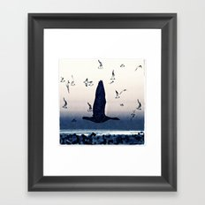 The goose and the seagulls Framed Art Print