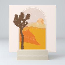 Minimalist Desert Joshua Tree Sand Dune Landscape Illustration Mini Art Print