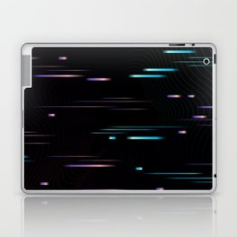 Universe Portal Glitch Synthwave Lines Laptop & iPad Skin