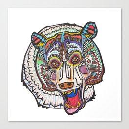 Mayan Bear Canvas Print