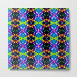 SBS Plaid Metal Print