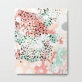 Breah - abstract painting pastel colors nursery baby gender neutral hipster Metal Print