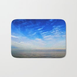 Blue Skies Over The Bay Bath Mat