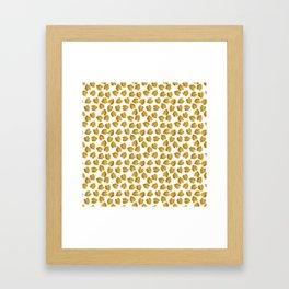 Gold Metallic Foil Photo-Effect Monstera Giant Tropical Leaves Framed Art Print