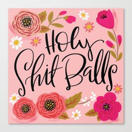 Pretty Swe*ry: Holy Shit Balls Canvas Print