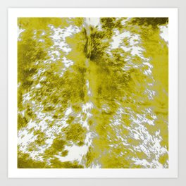 Gold Hide Print Metallic Art Print