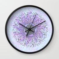 psych Wall Clocks featuring Psych by Stephanie