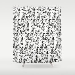 DALMATIAN / pattern pattern Shower Curtain