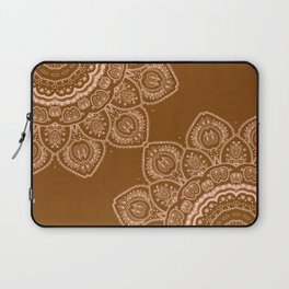 Mandala Tulips in Brown Laptop Sleeve