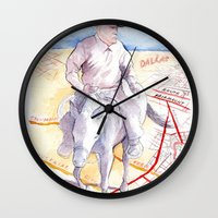 dallas Wall Clocks featuring Dallas, Texas by Howard Coale