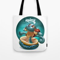 squirtle Tote Bags featuring Squirtle by Danilo Fiocco