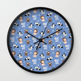 The jungle animals pattern Wall Clock