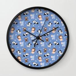 The jungle animals pattern Wall Clock
