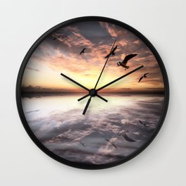 Water and Heaven Wall Clock