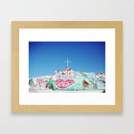 Salvation Mountain in the Californian Desert Framed Art Print