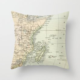 Vintage Map of Africa Throw Pillow