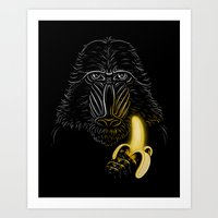 darth Art Prints featuring Darth Mandrill by Enkel Dika