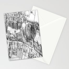Windsor Castle grey Stationery Cards