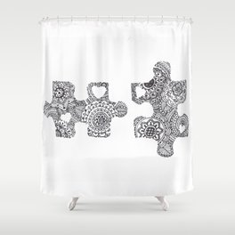 Puzzle Pieces Shower Curtain