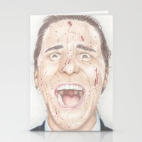 american psycho Stationery Cards featuring American Psycho by JadeJonesArt