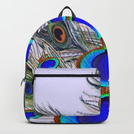 GREEN PEACOCK FEATHER & JEWELS #2 Backpack
