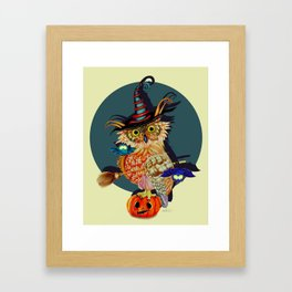 Owl Scary Framed Art Print