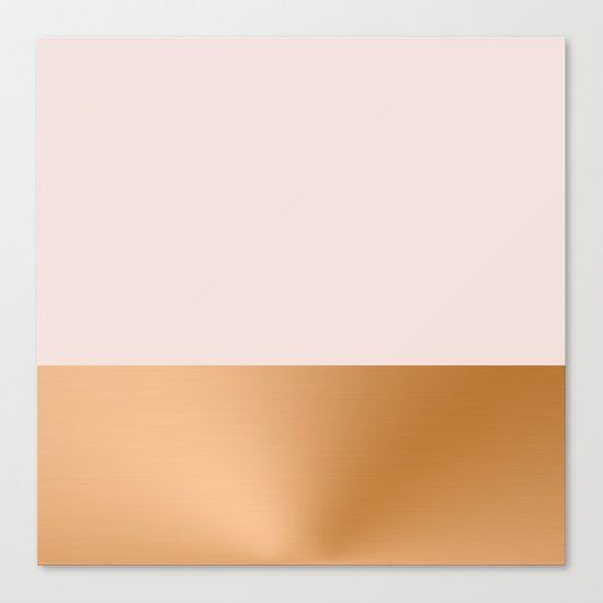 Blush Pink and Copper  Canvas Print
