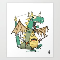 A Kobold in Dragon Clothing Art Print