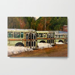 Bus Cemetery Metal Print