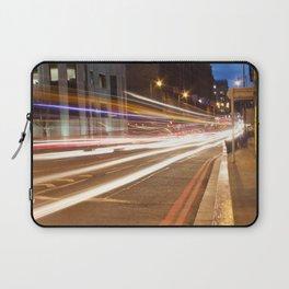 Edinburgh West End light trails Laptop Sleeve