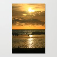 hawaiian Canvas Prints featuring Hawaiian Sunset by Just Wright Photos