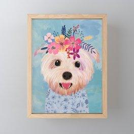 Floral Yorkshire Framed Mini Art Print