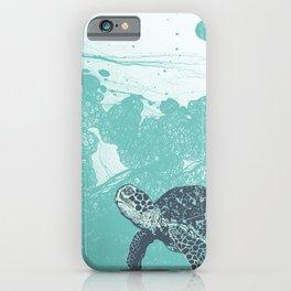 Sea Foam Sea Turtle iPhone Case