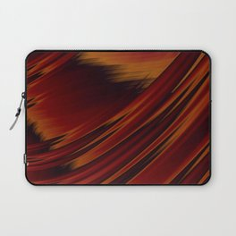 Dark Red Abstract Fractal Laptop Sleeve