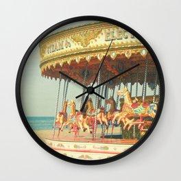 Seaside Carousel Wall Clock